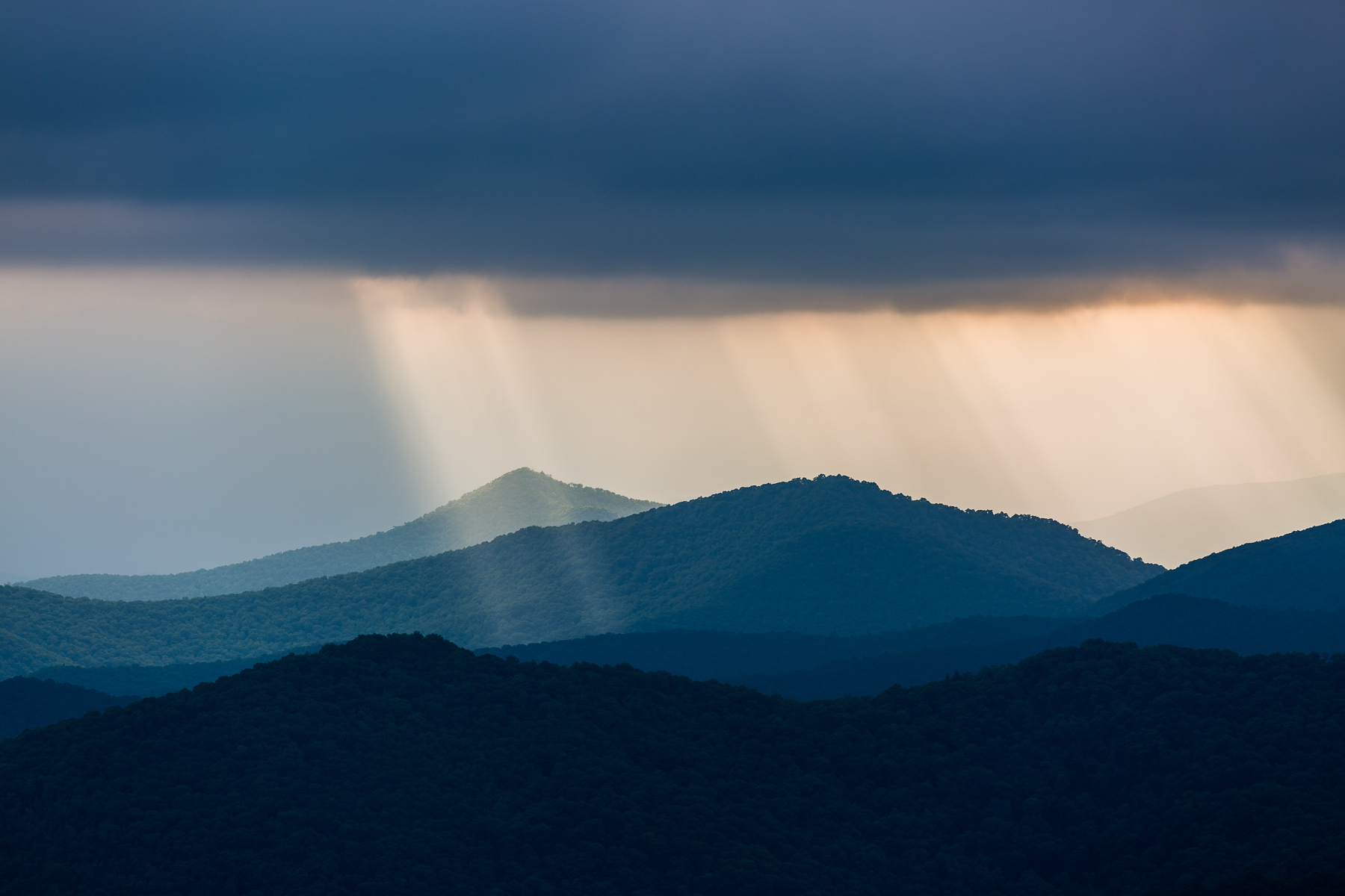 Mountain and Rays